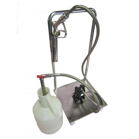 Pompe pneumatique à membranes sur chariot Inox